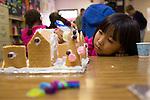 Santa Rita students make gingerbread houses