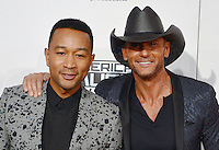 LOS ANGELES, CA - NOVEMBER 20: John Legend, Tim McGraw at the 44th Annual American Music Awards at the Microsoft Theatre in Los Angeles, California on November 20, 2016. Credit: Koi Sojer/Snap'N U Photos/MediaPunch