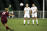 9 November 2007: Florida State's Becky Edwards (19) takes a free kick past the defensive wall of Wake Forest's Amy Smerdzinski (21) and Allie Sadow (11). Florida State University defeated Wake Forest University 5-2  at the Disney Wide World of Sports complex in Orlando, FL in an Atlantic Coast Conference tournament semifinal match.