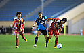 (L to R)  Ji So-Yun (Leonessa), Rachel Yankey (Arsenal), Megumi Takase (Leonessa), NOVEMBER 30, 2011 - Football / Soccer : TOYOTA Vitz Cup during Frendiy Women's Football match INAC Kobe Leonessa 1-1 Arsenal Ladies FC at National Stadium in Tokyo, Japan. (Photo by Jun Tsukida/AFLO SPORT) [0003]