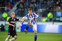 VOETBAL: HEERENVEEN: Abe Lenstra Stadion, SC Heerenveen - Vitesse, 21-01-2012, Tomas Kalas (#2), Bas Dost (#12), Eindstand 1-1, ©foto Martin de Jong