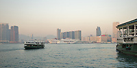 The Star Ferry Company's &quot;Twinkling Star&quot; (built 1964) leaving the terminal in Central, Hong Kong, bound for Tsim Sha Tsui across Victoria harbour