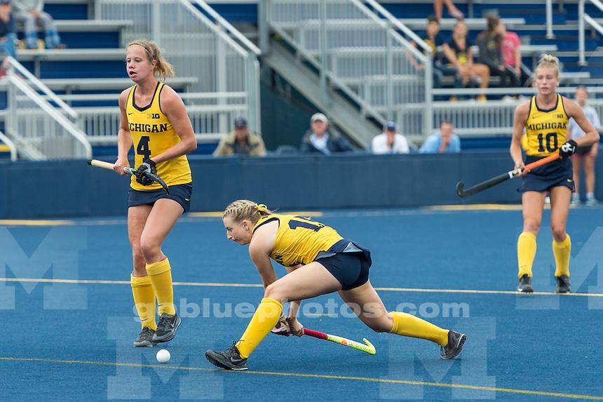 9/10/16 University of Michigan Women's Field Hockey team defeats Villanova, 3 - 0 at Ocker Field, Ann Arbor, MI.