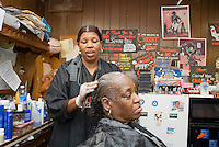 Memphis, Tennessee, February 2009. Shirley's hair and beauty salon has been around since the early soul music era. The city of Memphis is the place where Blues and Soul Music grew famous. Photo by Frits Meyst/Adventure4ever.com
