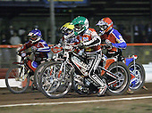 Heat 13 - Andersen (green), Jonsson (red), Shields, Bjerre  - Lakeside Hammers vs Peterborough Panthers - Sky Sports Elite League at Arena Essex, Purfleet - 31/08/07  - MANDATORY CREDIT: Gavin Ellis/TGSPHOTO - SELF-BILLING APPLIES WHERE APPROPRIATE. NO UNPAID USE. TEL: 0845 094 6026..