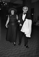 Bella Abzug and her husband at the fund raising dinner held by The Democratic Study Group in honour of Governor W. Averell Harriman, at the Sheraton Park Hotel in Washington.