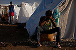 Residents of the Pechinat tent city on a soccer field in Jacmel. The 7.0 earthquake that devastated parts of Haiti on January 12 killed hundreds of thousands of people. January's earthquake killed hundreds of thousands of people and caused significant and lasting structural and economic damage in the Caribbean nation.