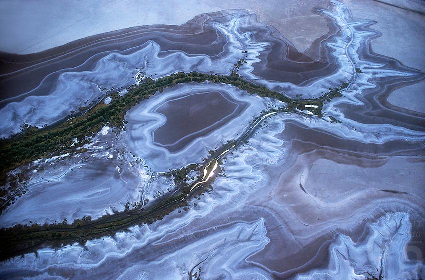 Patterns - Aerial of northern Coastal flood plains, Norther Territory, Australia
