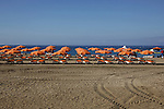 Beach parasols and beach chairs,Playa de La s Americas,Tenerife, Canary Islands, Spain,Canary Islands