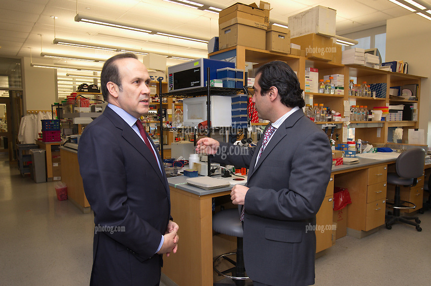 Turkish Ambassador to the United States, His Excellency Namik Tan visit to Yale University. Tour of the Neuroscience Lab with Dr. Murat Gunel at the Yale Medical School   6 December 2012