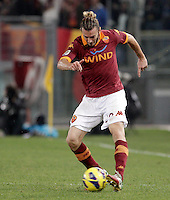 Calcio, Serie A: Roma vs Palermo. Roma, stadio Olimpico, 4 novembre 2012..AS Roma defender Federico Balzaretti  in action during the Italian Serie A football match between AS Roma and Palermo, at Rome's Olympic stadium, 4 november 2012..UPDATE IMAGES PRESS/Riccardo De Luca