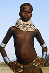 Bumi girl, Murle Region, Ethiopia