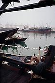 Salalah, Oman.July 2001..Fishermen in the port.