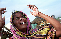 A grief-striken mother at Nagapattinam.India.