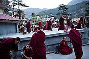 Buddhist monks debate at a monastery in Dharamsala, Himachal Pradesh, India. Photo: Sanjit Das/Panos