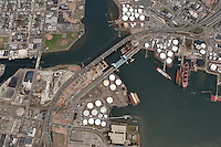 Aerial Photographs of the Pearl Harbor Memorial Bridge New Haven CT 2009 | Long & High Perspectives