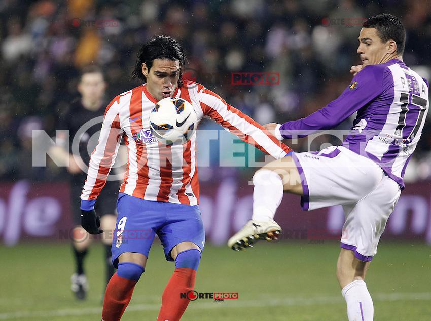 Radamel Facao during Real Valladolid V Atletico de Madrid match of La Liga 2012/13. 17/02/2012. Victor Blanco/Alterphotos /NortePhoto