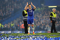 John Terry of Chelsea applauds the home fans as he leaves the pitch after the final whistle during Chelsea vs Watford, Premier League Football at Stamford Bridge on 15th May 2017