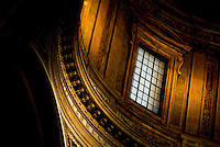 Interior architectural detail inside church, Rome, Italy