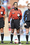 20 October 2013: Referee Mohammad Samadpour. The University of North Carolina Tar Heels hosted the University of Virginia Cavaliers at Fetzer Field in Chapel Hill, NC in a 2013 NCAA Division I Women's Soccer match. Virginia won the game 2-0.