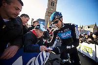 De Ronde van Vlaanderen 2012..Juan Antonio Flecha signing