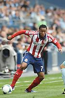 Tristan Bowen (7) forward Chivas USA in action..Sporting Kansas City defeated Chivas USA 4-0 at Sporting Park, Kansas City, Kansas.