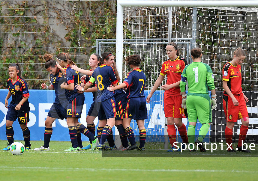 Belgium - Spain : spanje scoort de 0-1 <br /> foto David Catry / Nikonpro.be