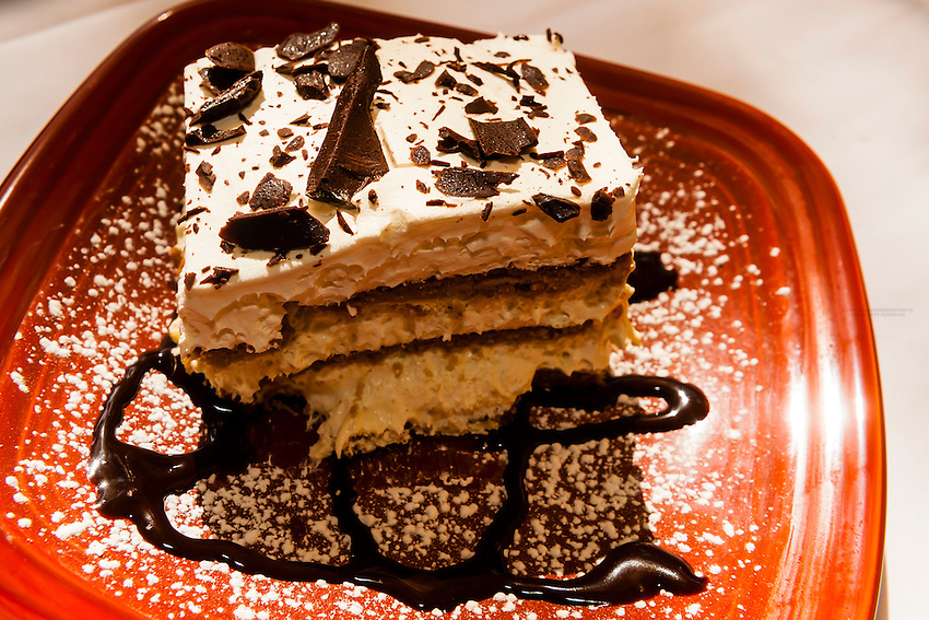 Levante dessert (a New Mexican style tiramisu), El Pinto Restaurant and Cantina, Albuquerque, New Mexico USA