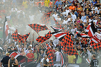 DC United fans.  DC United defeated AC. Milan 3-2 at RFK Stadium, Wednesday May 26, 2010.
