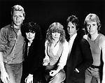 Heart 1982 Mark Andes, Ann Wilson, Nancy Wilson, Danny Carmassi and Howard Leese<br /> &copy; Chris Walter