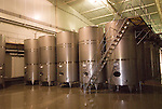 Chile Wine Country: Stainless steel tanks at Undurraga Winery, Vina Undurraga, near Santiago..Photo #: ch429-33902..Photo copyright Lee Foster, 510-549-2202, www.fostertravel.com, lee@fostertravel.com.