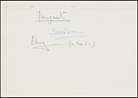 BNPS.co.uk (01202 558833)<br /> Pic DominicWinter/BNPS<br /> <br /> ***Please use full byline***<br /> <br /> Signatures from the Concorde visitor's book - Lord and Lady Snowdon. <br /> <br /> The supersonic archive amassed by legendary Concorde test pilot Brian Trubshaw during his flying career is being sold by his family.<br /> <br /> The collection made by the late airman who was the first to fly the famous turbo-jet in Britain in 1969, includes all his log books covering his 30 years service.<br /> <br /> He went on to put Concorde through its paces, criss-crossing the globe at twice the speed of sound before the plane entered commercial service six years later.<br /> <br /> The archive is being sold by Dominic Winter Auctioneers, Glocs. on November 7th.