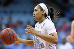 21 March 2015: North Carolina's Allisha Gray. The University of North Carolina Tar Heels hosted the Liberty University Flames at Carmichael Arena in Chapel Hill, North Carolina in a 2014-15 NCAA Division I Women's Basketball Tournament first round game.