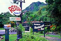 Punaluu restaurant. A quaint stop along Oahu's windward coast