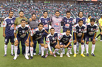 Pachuca FC starting eleven. USA Chivas USA defeated Pachuca FC 1-0 during 2010 SuperLiga group play at Home Depot Center stadium in Carson, California Wednesday July 21, 2010.