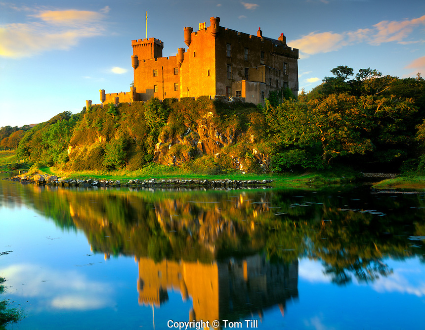 Dunvegan Castle  Isle of Skye, Scotland, United Kingdom  Seven hundred year old castle  Loch Dunvegan  Home of McCloed clan  September
