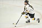 16 October 2010: University of Vermont Catamount defender Hannah Westbrook, a Senior from Laramie, WY, in action against the Boston College Eagles at Gutterson Fieldhouse in Burlington, Vermont. The Lady Cats fell to the visiting Eagles 4-1 in the second game of their weekend series. Mandatory Credit: Ed Wolfstein Photo