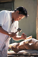 Wood Carver in Ubud Bali