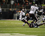 Ole Miss defensive back Mike Hilton (28) tackles Texas A&amp;M quarterback Johnny Manziel (2) at Vaught-Hemingway Stadium in Oxford, Miss. on Saturday, October 6, 2012. Texas A&amp;M rallied from a 27-17 4th quarter deficit to win 30-27.