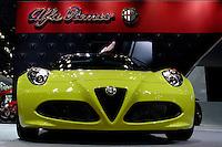 The Alfa Romeo 4C Spider is seen during the International Auto Show 2015 in New York. 04.06.2015. Eduardo MunozAlvarez/VIEWpress.
