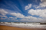 A beautiful summer sky at Cahoon Hollow Beach, Wellfleet, Cape Cod, MA, USA