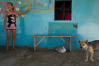 At home in Tiraya on Venezuela's Paraguaná Peninsula, Dec. 13, 2015. The remote desert peninsula in the Caribbean Sea lays bare the effects of Venezuela's politicized economy after 17 years under Hugo Chavez and successor Nicolas Maduro.