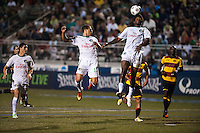 HEMPSTEAD, NY – AUGUST 3: The New York Cosmos play against the Fort Lauderdale Strikers on August 3, 2013 at Hofstra University's Shuart Stadium in Hempstead, New York.