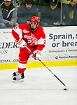 9 January 2011: Boston University Terrier defenseman Sean Escobedo, a Sophomore from Bayside, NY, in action against the University of Vermont Catamounts at Gutterson Fieldhouse in Burlington, Vermont. The Terriers defeated the Catamounts 4-2 in Hockey East play. Mandatory Credit: Ed Wolfstein Photo