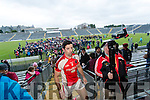Aidan O'Mahony of the Rathmore team celebrate defeating Dr Crokes in Fitzgerald Stadium on Sunday.