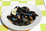 Maryland: Annapolis.  Eating seafood, mussels.  Photo #: mdanna110(nef259).Photo copyright Lee Foster, www.fostertravel.com, 510/549-2202, lee@fostertravel.com