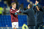 Hearts v St Johnstone...14.02.12.. Scottish Cup 5th Round Replay.Marius Zaliukus celebrates at full time.Picture by Graeme Hart..Copyright Perthshire Picture Agency.Tel: 01738 623350  Mobile: 07990 594431