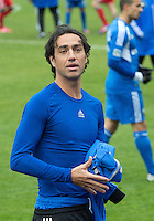 20 October 2012: Montreal Impact defender Alessandro Nesta #14 removes his jersey and gives it to a fan during an MLS game between the Montreal Impact and Toronto FC at BMO Field in Toronto, Ontario Canada. .The ended in a 0-0 draw..