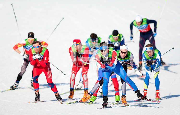 WHISTLER, BC, CANADA--Cross Country Skiing Team Sprint, Whistler Olympic Park.