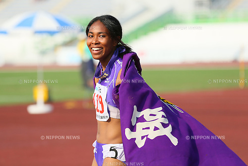 Iyoba Edber, JULY 30, 2015 - Athletics : 2015 All-Japan Inter High School Championships, Women's 100m Final at Kimiidera Athletic Stadium, Wakayama, Japan. (Photo by YUTAKA/AFLO SPORT)